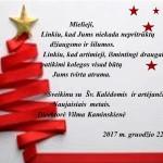 Kalėdinis sveikinimas darbuotojams